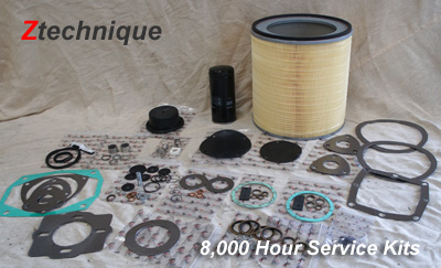 Part Number 296008500 8,000 Hour Service Kit - Ztechnique Service Kit for ZR4 Compressor