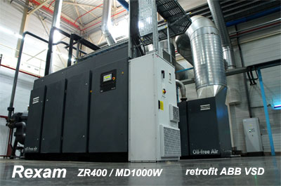 Rexam buys Refurbished ZR400 with MD1000W with Retrofit ABB VSD drive installed.