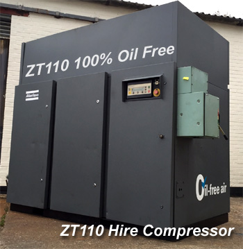 New 100% Oil free Atlas Copco ZT110 Hire Fleet Additions