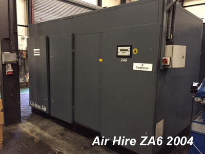 2004 Atlas Copco ZA6 air compressor in excellent condition